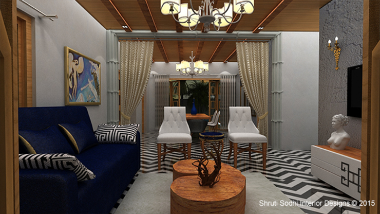 Interior Decoration Modern living room by Shruti Sodhi Interior Designs Modern