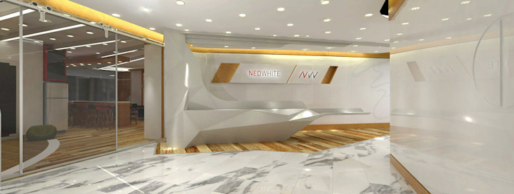Reception Eclectic style study/office by Much Creative Communication Limited Eclectic Marble
