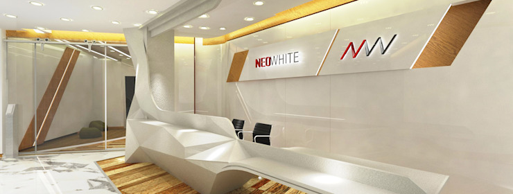 Reception & Signage Eclectic style study/office by Much Creative Communication Limited Eclectic Glass