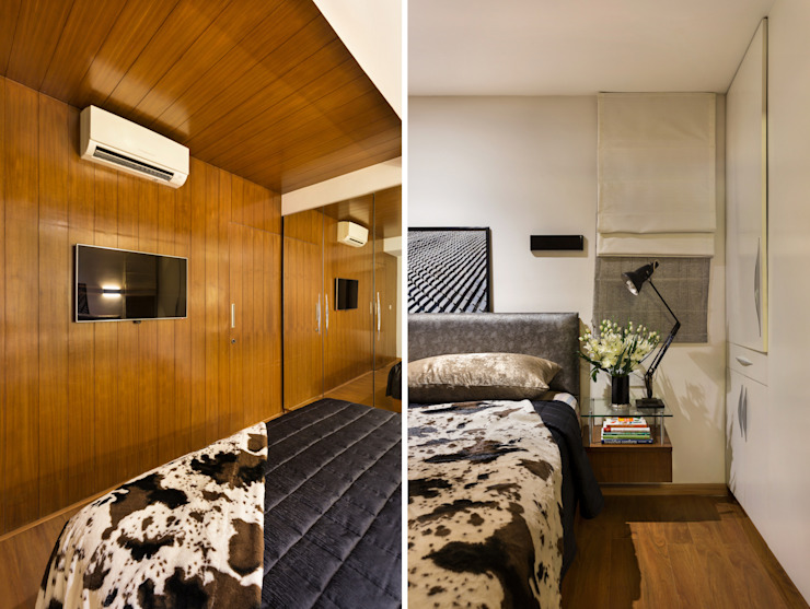 Kalyan Penthouse / Apartment Interiors Modern style bedroom by Source Architecture Modern