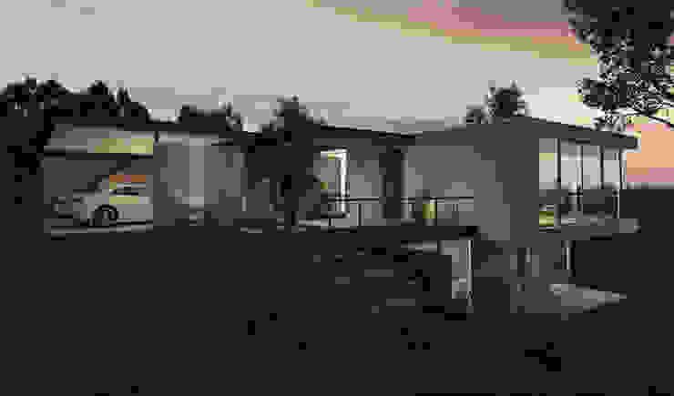 AR arquitectos Maisons modernes Béton