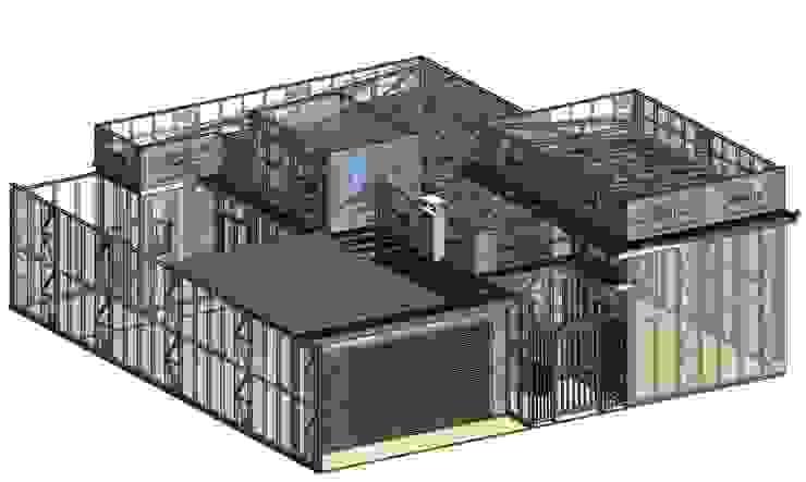 Projeto de casa no Ligth Steel Frame:  tropical por TECHMAN ENGENHARIA,Tropical