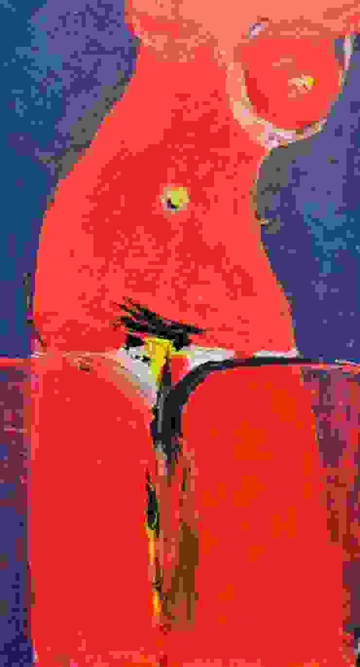 """Original Ölgemälde auf Leinwand von Mykola Stupin """"Red Hot Chili Pussy"""" 126 x 70. Hand signiert.: modern  von NK-Line ,Modern"""