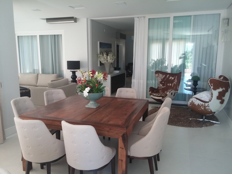 Projeto de mobiliário de Residência 600 m² TODDO Arquitetura e Engenharia Salas de jantar modernas