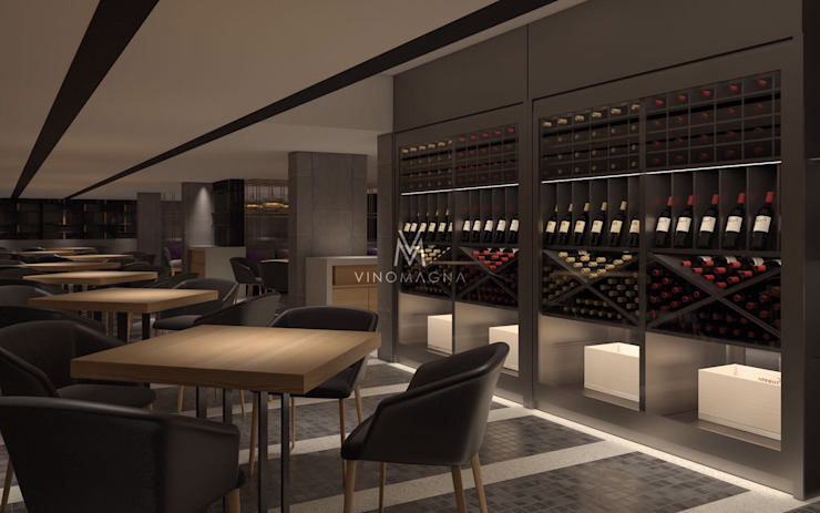 Wine cellar by Vinomagna - Bespoke Wine cellars