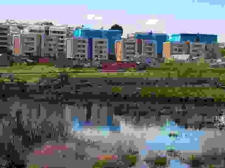 Condominio Lomas de Javiera, Temuco Casas estilo moderno: ideas, arquitectura e imágenes de Equipo Jaspard Arquitectos Moderno Concreto reforzado