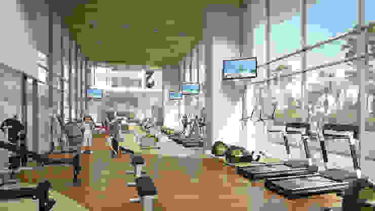 Gym Gimnasios domésticos modernos de TaAG Arquitectura Moderno