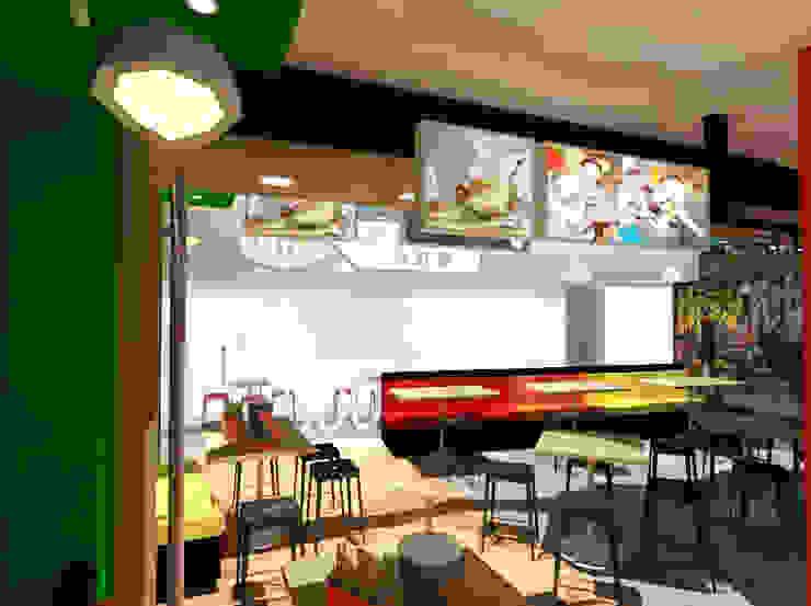 Restaurante LKF Urban Food. de SCABA EQUIPAMIENTO Y ARQUITECTURA COMERCIAL , C.A. Minimalista