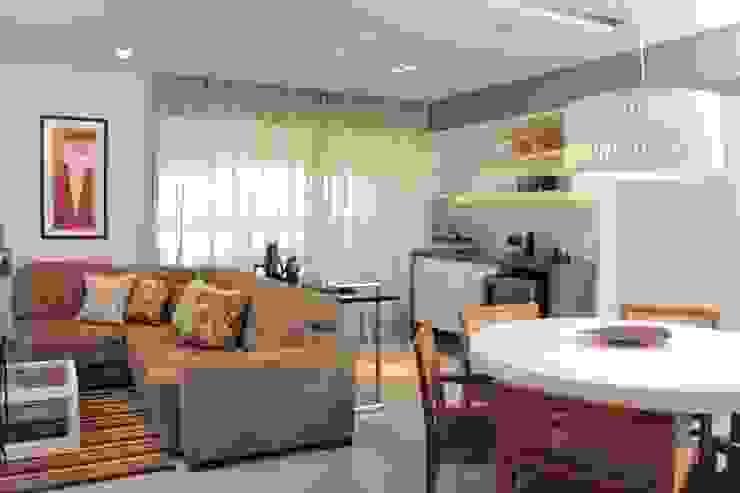 Projeto residencial Salas de estar modernas por LX Arquitetura Moderno