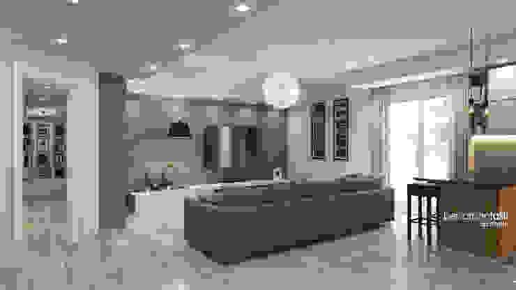 Salas modernas de Beniamino Faliti Architetto Moderno