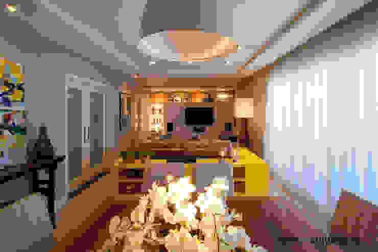 Apartamento J+R Salas de estar modernas por Saladearquitetura Moderno