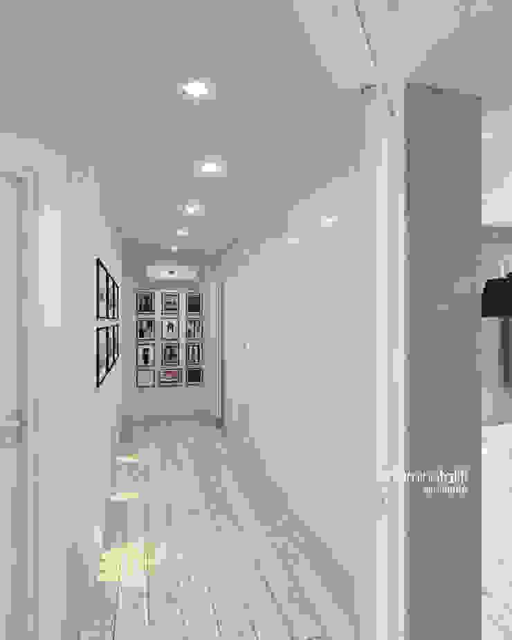 Beniamino Faliti Architetto Modern corridor, hallway & stairs