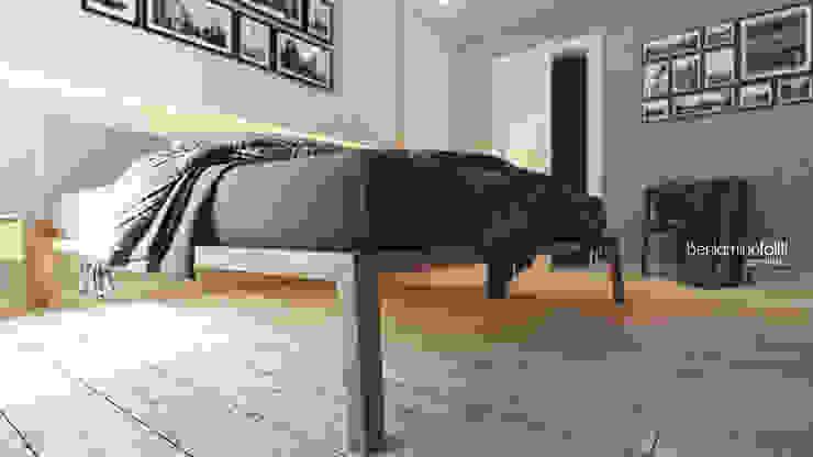 Beniamino Faliti Architetto Modern style bedroom