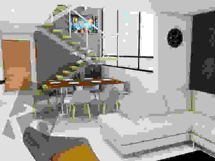 Comedor a doble altura Comedores modernos de KS Architektural Solution Moderno