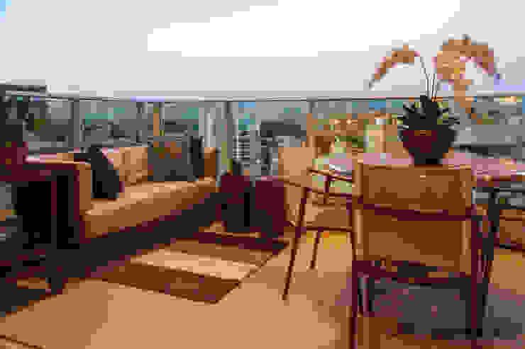 Apartamento J+R Varandas, alpendres e terraços modernos por Saladearquitetura Moderno