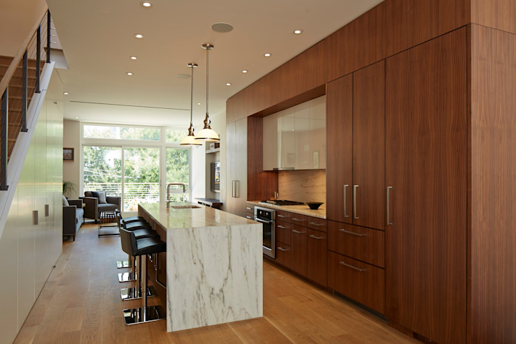 Cobble Hill Townhouse Modern Kitchen by Sarah Jefferys Design Modern