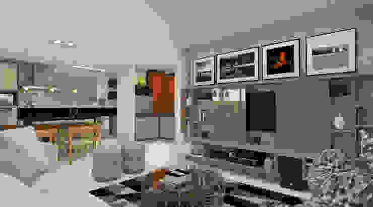 Moderne Wohnzimmer von Espaço AU Modern