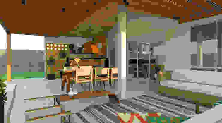 Moderner Balkon, Veranda & Terrasse von Espaço AU Modern