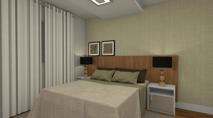 Moderne Schlafzimmer von Espaço AU Modern