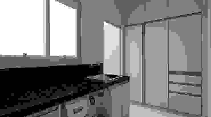 Moderner Flur, Diele & Treppenhaus von Espaço AU Modern