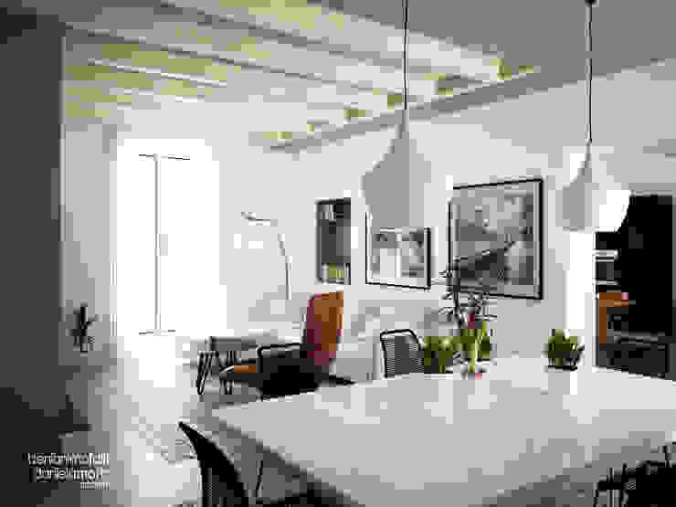 Soggiorno Soggiorno moderno di Beniamino Faliti Architetto Moderno