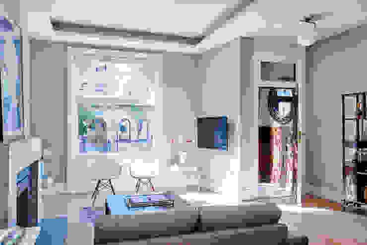 Park Slope Townhouse Modern Living Room by Sarah Jefferys Design Modern
