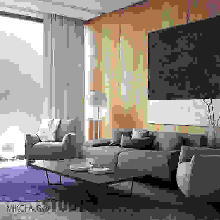 Salas / recibidores de estilo  por MIKOLAJSKAstudio, Moderno