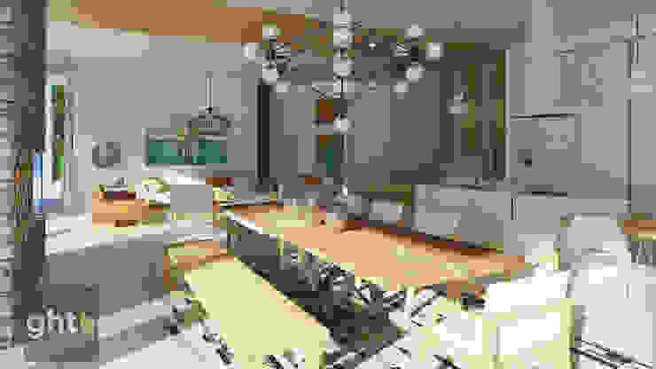 Interiorismo Casa Cañadas Comedores modernos de GHT EcoArquitectos Moderno
