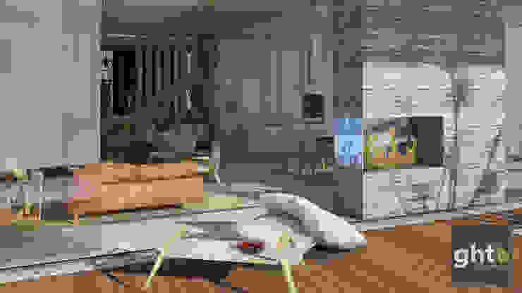 Interiorismo Casa Cañadas Balcones y terrazas modernos de GHT EcoArquitectos Moderno