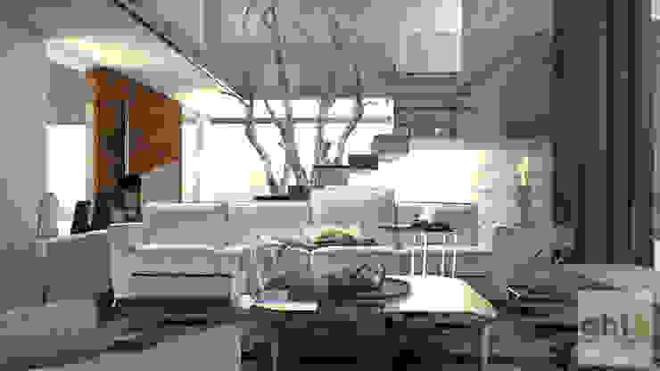 Interiorismo Casa-Habitación Salones minimalistas de GHT EcoArquitectos Minimalista