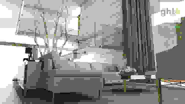 GHT EcoArquitectos Minimalistyczny salon