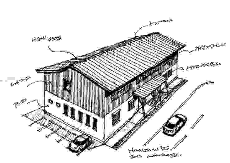 Casas de estilo escandinavo de 匙/今井ヒロカズ設計事務所 Escandinavo Madera Acabado en madera