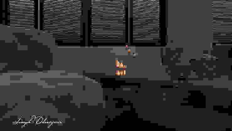 Visualización 3D Biblioteca de Iluminature Moderno Madera Acabado en madera