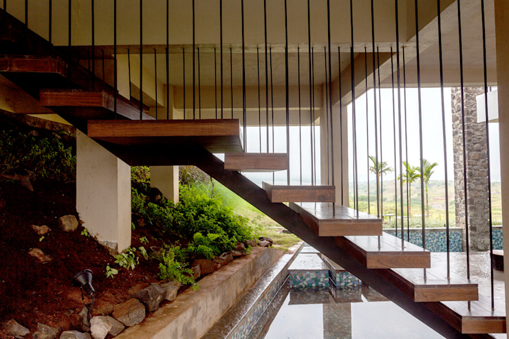 Rustic style corridor, hallway & stairs by Inscape Designers Rustic