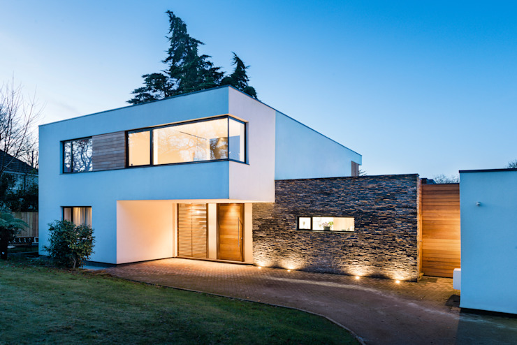 White Oaks Entrance Casas modernas por Barc Architects Moderno