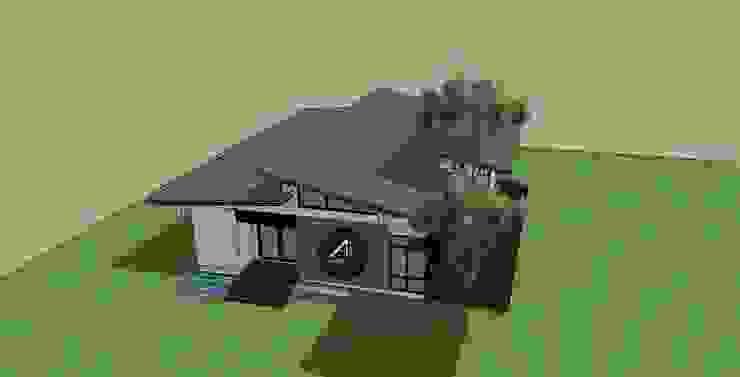 บ้านชั้นเดียว พุทธมณฑลสาย2. โดย สถาปนิก หนึ่ง ศูนย์ สี่