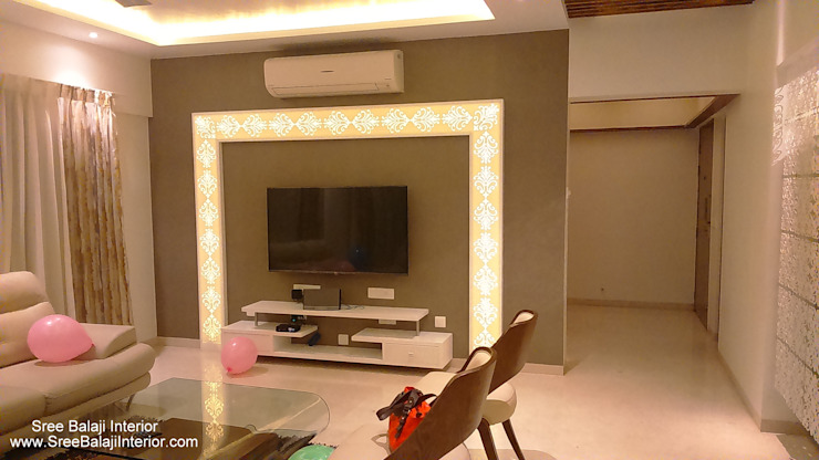 Interior of Residence Modern living room by Sree Balaji Interior Modern