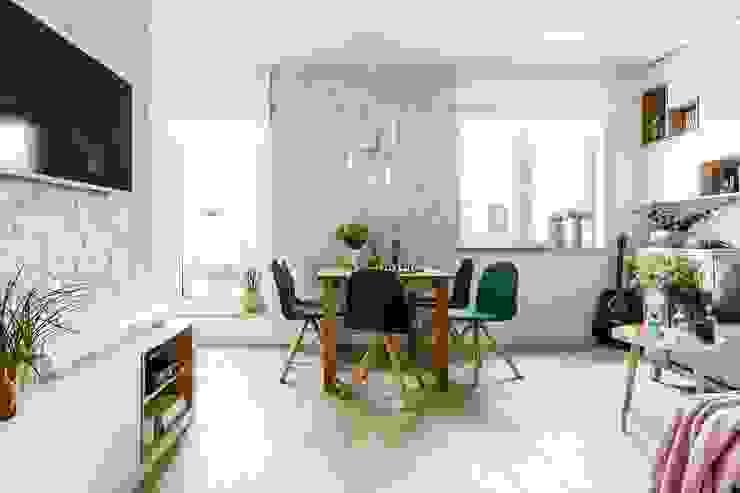 Comedores de estilo escandinavo de Saje Architekci Joanna Morkowska-Saj Escandinavo