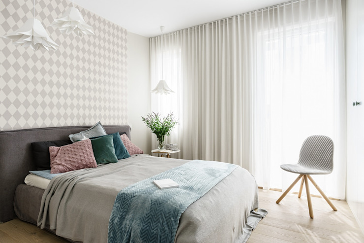 Scandinavian style bedroom by Saje Architekci Joanna Morkowska-Saj Scandinavian