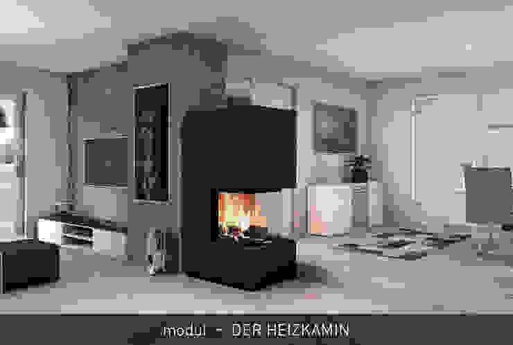 modul - DER HEIZKAMIN CB stone-tec GmbH Moderne Wohnzimmer Stein Schwarz