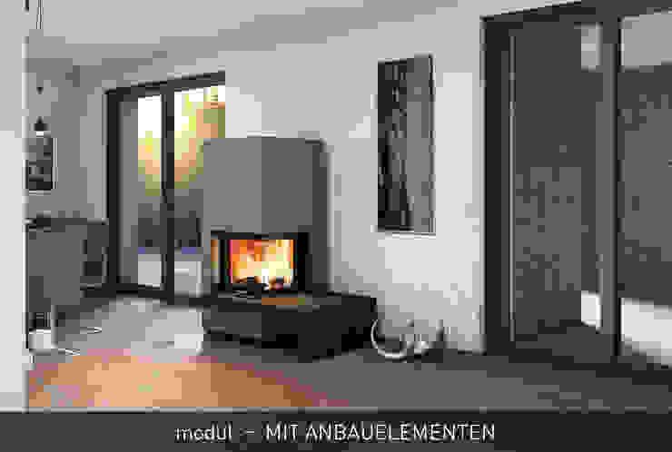monolith - ELEGANTE SYSTEMÖFEN MIT DESIGN UND FUNKTION CB stone-tec GmbH Moderne Wohnzimmer Stein Rot