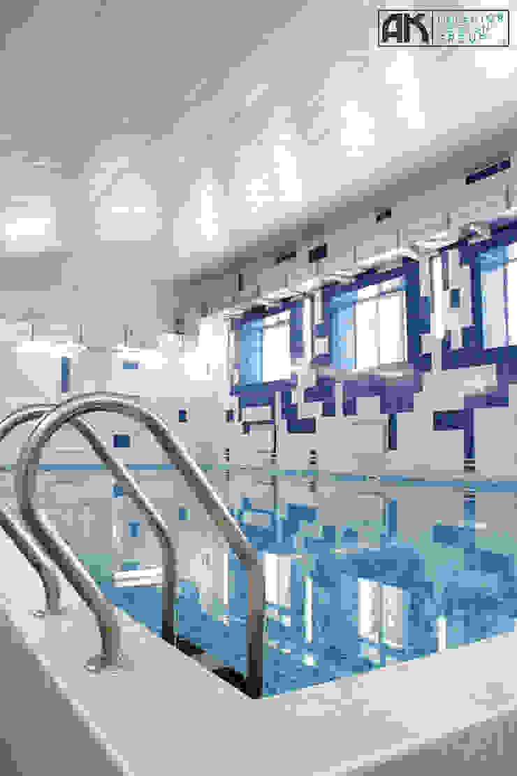 дизайнер Алина Куракова Modern Pool Ceramic Blue