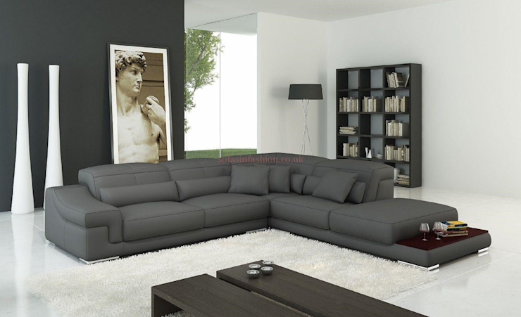 Grey Large Sofa de Sofas In Fashion Moderno