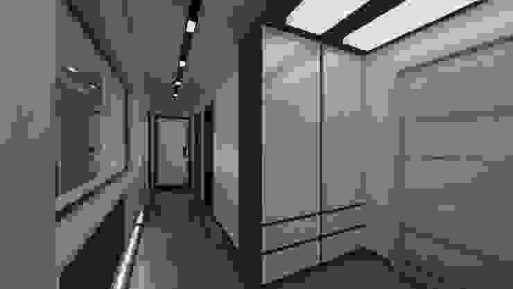 Modern corridor, hallway & stairs by Meteor Mimarlık & Tasarım Modern