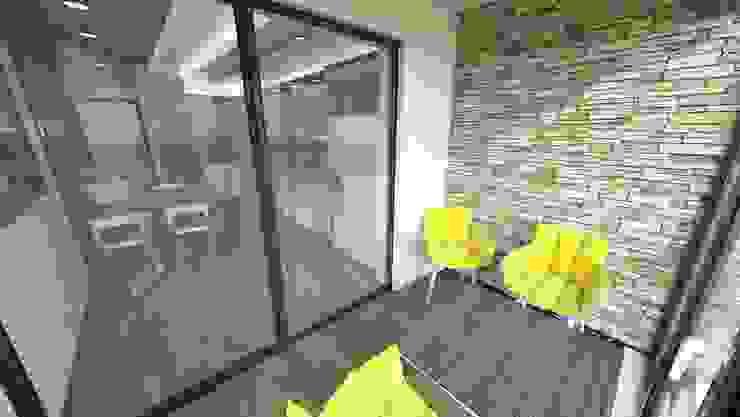 RESIDENCE Modern Balkon, Veranda & Teras Meteor Mimarlık & Tasarım Modern