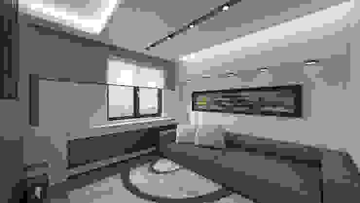 RESIDENCE Modern Oturma Odası Meteor Mimarlık & Tasarım Modern