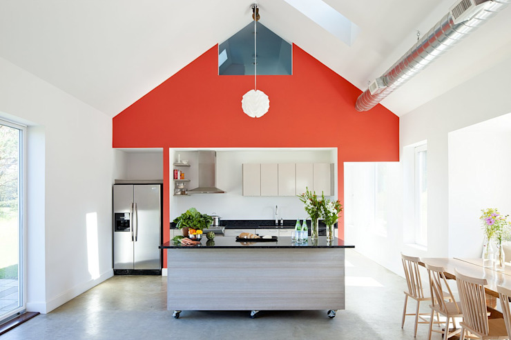 Kitchen ZeroEnergy Design Modern Kitchen Red