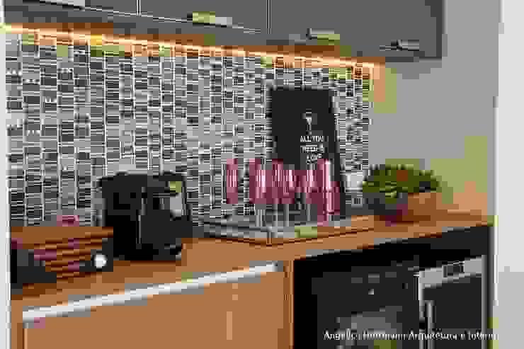 Ruang Makan Modern Oleh Angelica Hoffmann Arquitetura e Interiores Modern