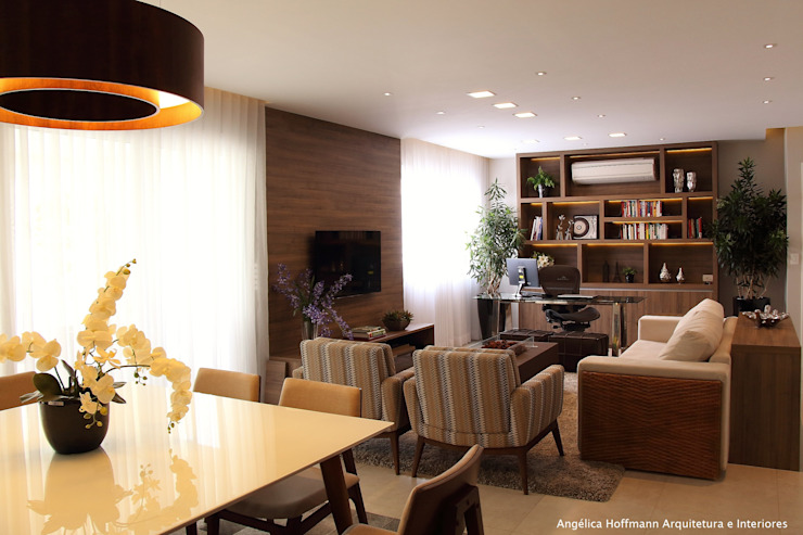 Ruang Keluarga Modern Oleh Angelica Hoffmann Arquitetura e Interiores Modern