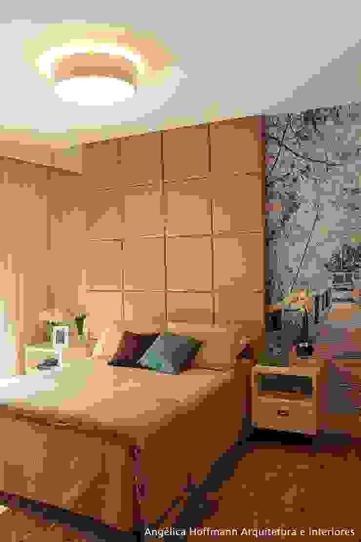 Kamar Tidur Modern Oleh Angelica Hoffmann Arquitetura e Interiores Modern